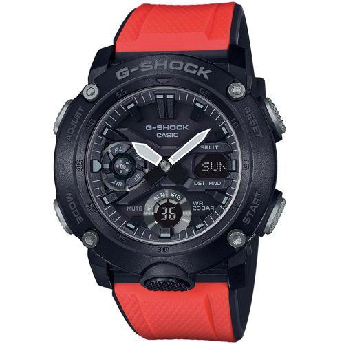 CASIO G-SHOCK Box Carbon Red Rubber Strap GA-2000E-4ER