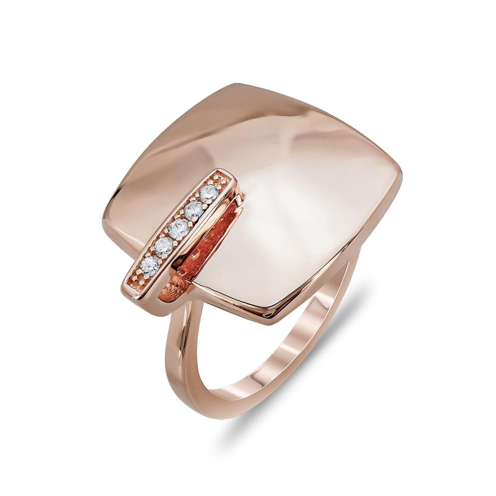 Δαχτυλίδι Μοντέρνο Από Ροζ Επιχρυσωμένο Ασήμι DX757