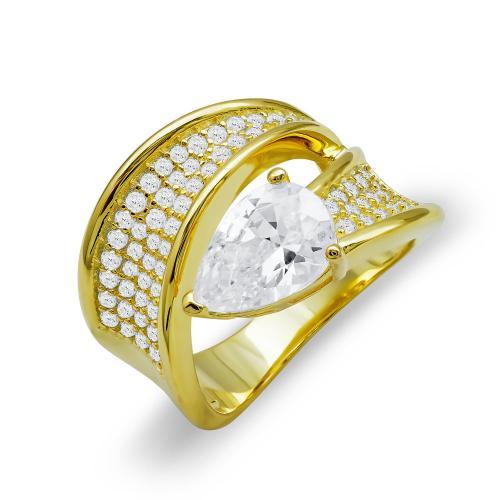 Δαχτυλίδι Φίδι Από Επιχρυσωμένο Ασήμι DX796