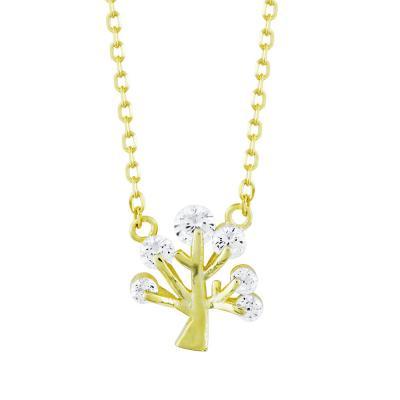 Κολιέ Το Δέντρο Της Ζωής Από Επιχρυσωμένο Ασήμι KL809