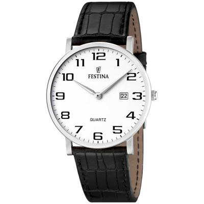 FESTINA Black Leather Strap F16476-1