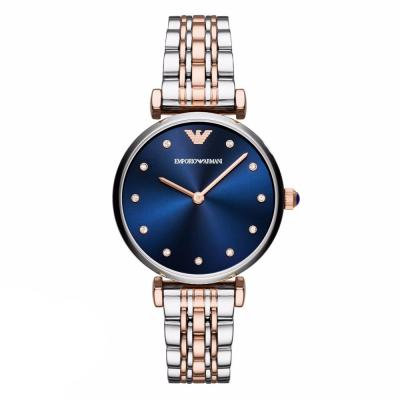 Emporio ARMANI Gianni T-Bar Crystals Two Tone Stainless Steel Bracelet AR11092