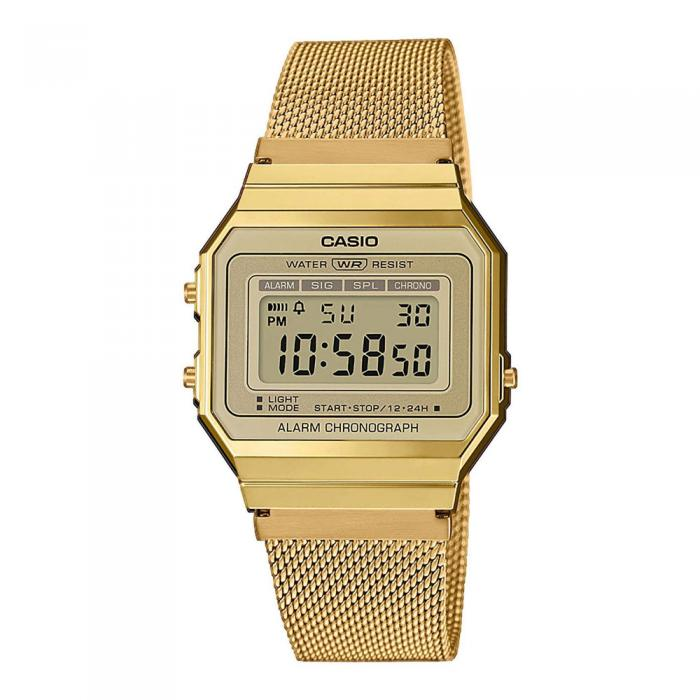 CASIO Collection Vintage Gold Stainless Steel Watch A-700WEMG-9AEF