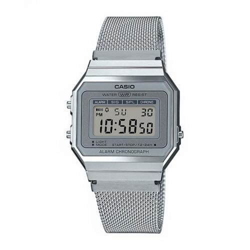 CASIO Collection Vintage Silver Stainless Steel A-700WEM-7AEF
