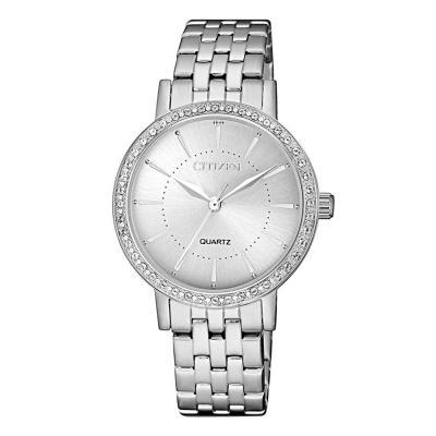 CITIZEN Elegance Swarovski Silver Stainless Steel Bracelet EL3040-80A