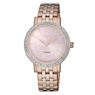 CITIZEN Elegance Swarovski Rose Gold Stainless Steel Bracelet EL3043-81X