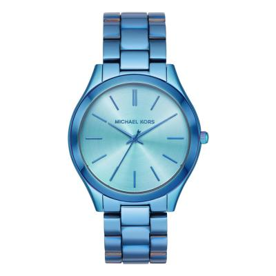 Michael KORS Slim Runway Blue Stainless Steel Bracelet MK4390
