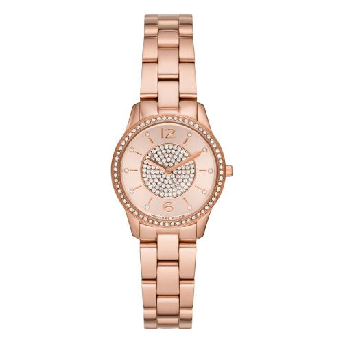 Michael KORS Runway Crystals Rose Gold Stainless Steel Bracelet MK6619