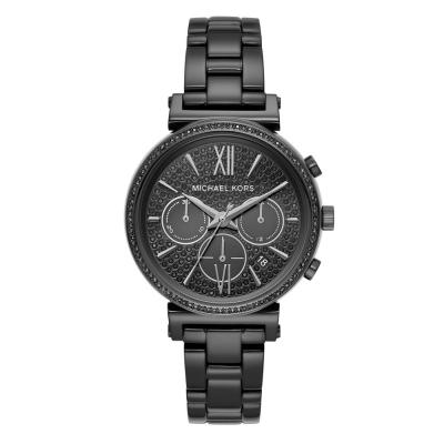 MICHAEL KORS Sofie Crystals Black Stainless Steel Chronograph MK6632