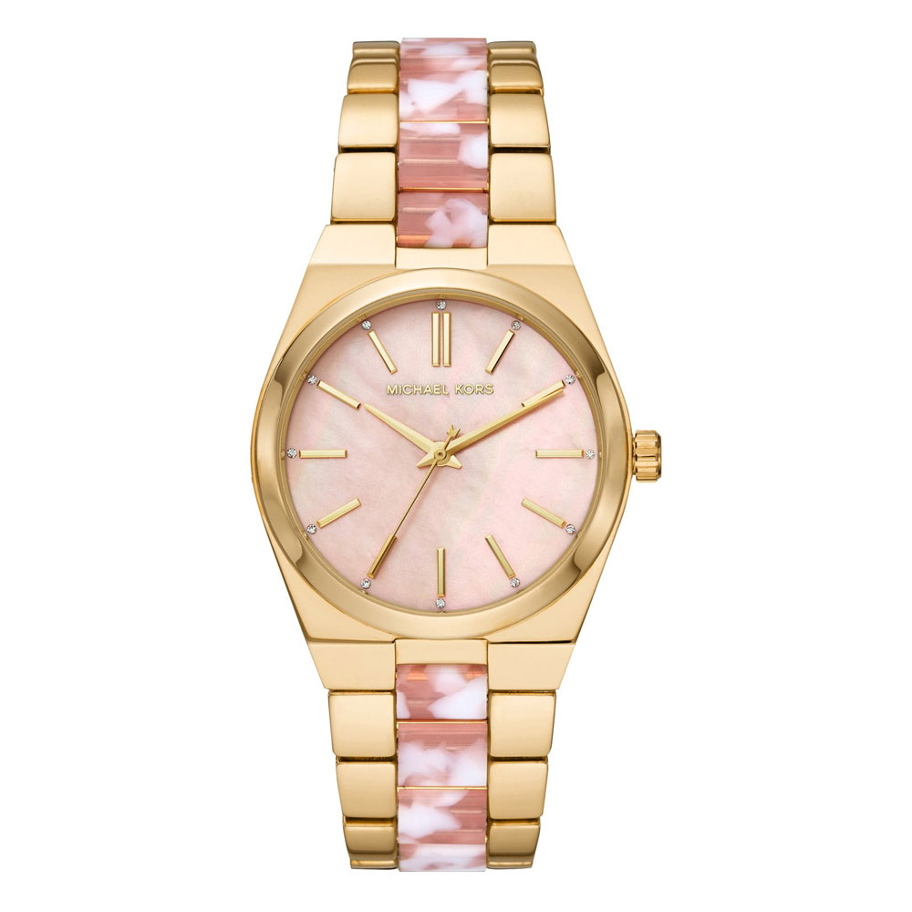 Michael KORS Channing Crystals Two Tone Stainless Steel Bracelet MK6650