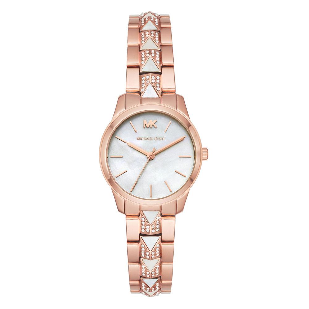 Michael KORS Runway Crystals Rose Gold Stainless Steel Bracelet MK6674
