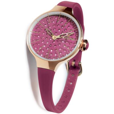 HOOPS Cherie Crystals Purple Rubber Strap 2483LGD06