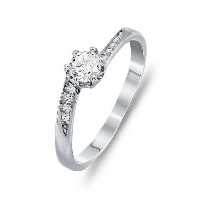 Μονόπετρο Δαχτυλίδι Από Ασήμι DX755
