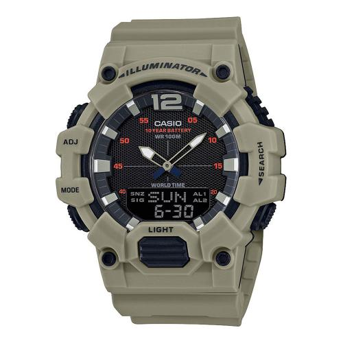 CASIO Collection Khaki Rubber Strap HDC-700-3A3VEF