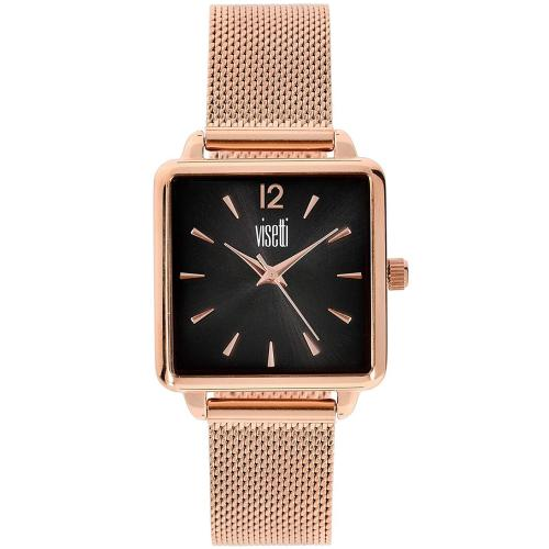 VISETTI Elite Rose Gold Stainless Steel Bracelet HF-354RB