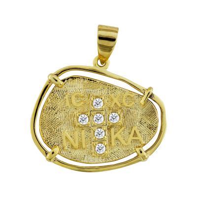 Κωνσταντινάτο Από Κίτρινο Χρυσό Κ14 KN243