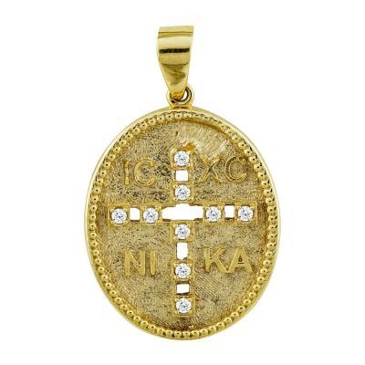 Κωνσταντινάτο Από Κίτρινο Χρυσό Κ14 KN244