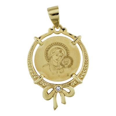 Κωνσταντινάτο Από Κίτρινο Χρυσό Κ14 KN248