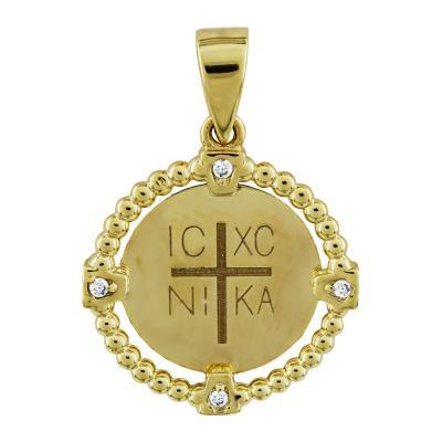 Κωνσταντινάτο Από Κίτρινο Χρυσό Κ14 KN251