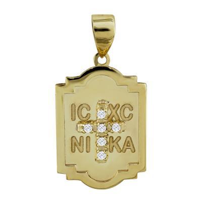 Κωνσταντινάτο Από Κίτρινο Χρυσό Κ14 KN257
