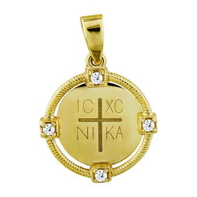 Κωνσταντινάτο Από Κίτρινο Χρυσό Κ14 KN259