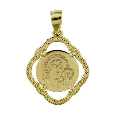 Κωνσταντινάτο Από Κίτρινο Χρυσό Κ14 KN260