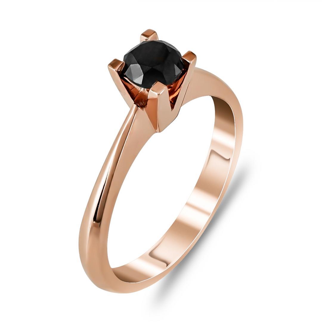 Μονόπετρο Δαχτυλίδι Κ18 με Διαμάντι Brilliant R25111