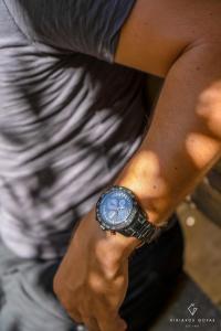 Μαύρο ανδρικό ρολόι seiko