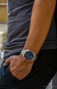 Ασημί ανδρικό ρολόι seiko