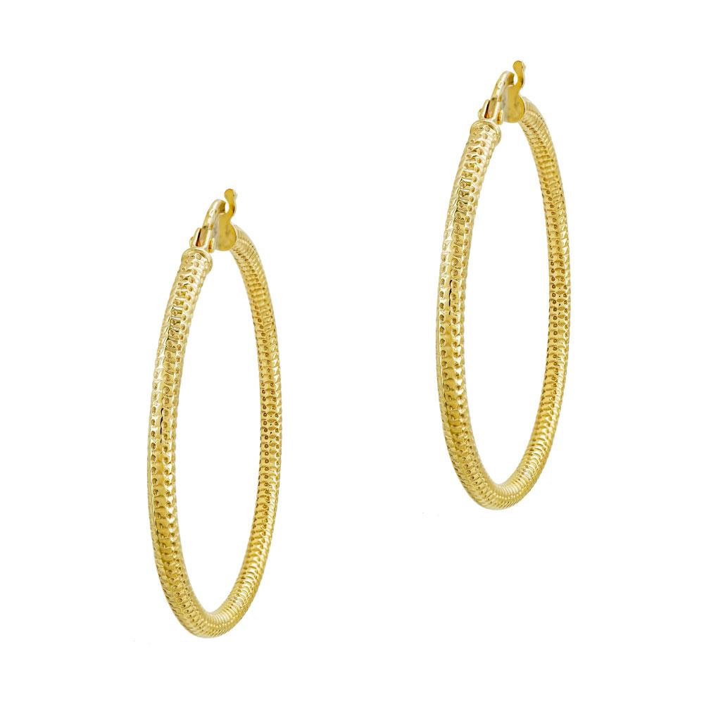 Σκουλαρίκια Κρίκοι Από Κίτρινο Χρυσό K14 SK01212