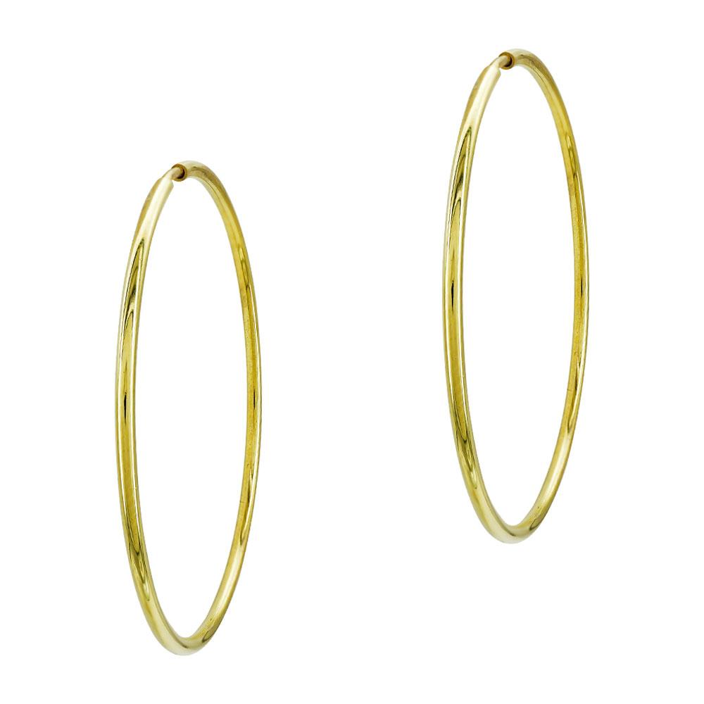 Σκουλαρίκια Κρίκοι Από Κίτρινο Χρυσό K14 SK79983