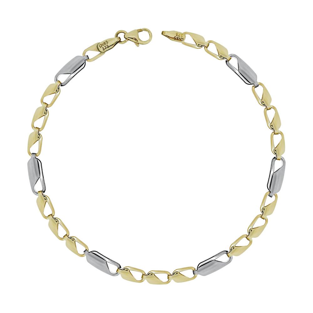 Ανδρικό Βραχιόλι Από Δίχρωμο Χρυσό K9 AVR155