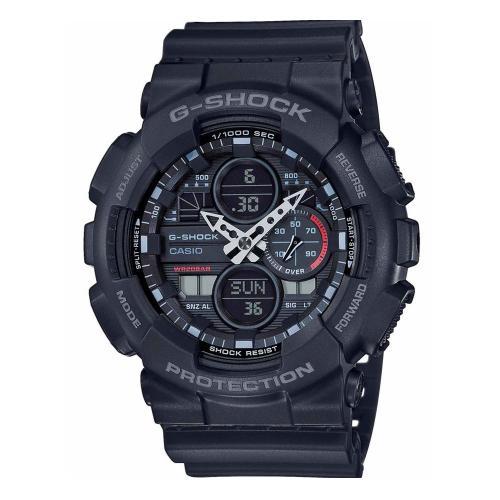 CASIO G-SHOCK Anadigi Black Rubber Strap GA-140-1A1ER