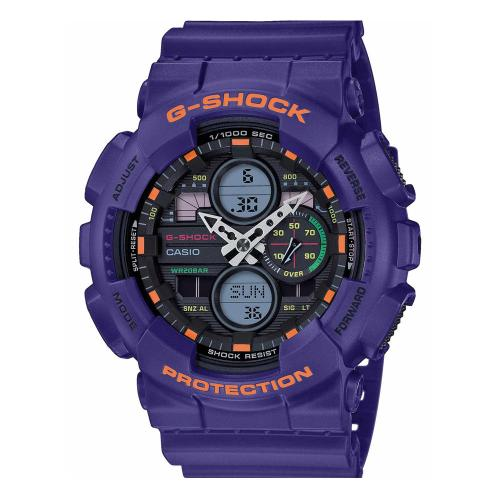 CASIO G-SHOCK Anadigi Purple Rubber Strap GA-140-6AER
