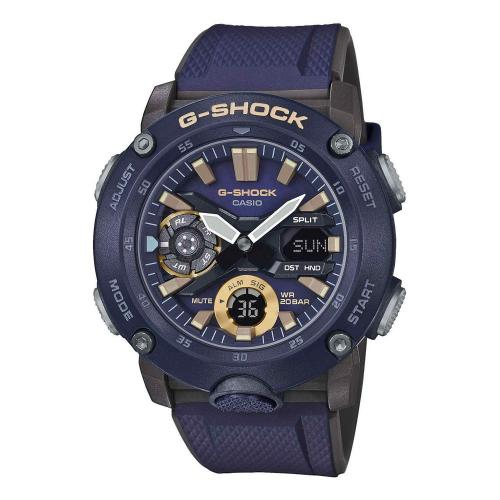CASIO G-SHOCK Carbon Blue Rubber Strap GA-2000-2AER