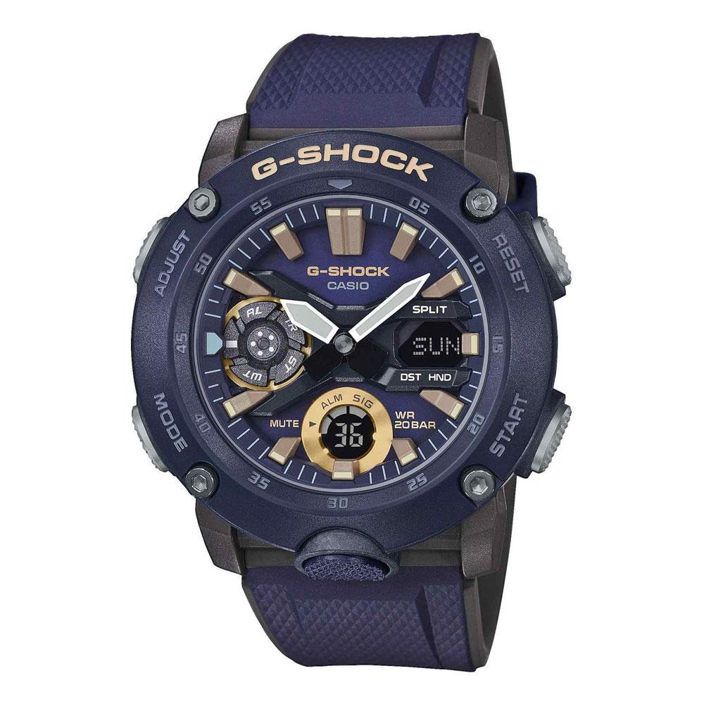 CASIO G-SHOCK Carbon Blue Rubber Strap GA-2000-2AER