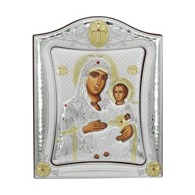 Εικόνα με την Παναγία σε Kαφέ Ξύλο Από Ασήμι MA/E3402/2Χ