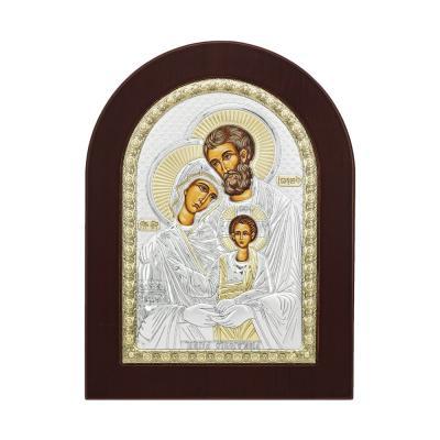 Εικόνα με την Παναγία σε Kαφέ Ξύλο Από Ασήμι MA/E1105BX