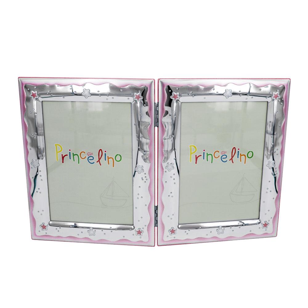 Prince Silvero Διπλή Κορνίζα Για Κοριτσάκι Από Ασήμι MA/143-2D/RR