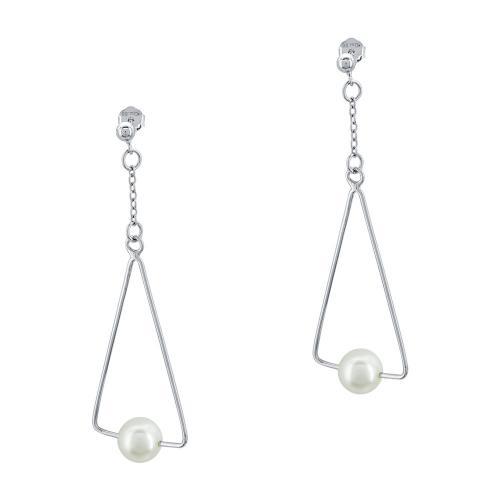 Σκουλαρίκια Με Μαργαριτάρια Από Ασήμι SK1005