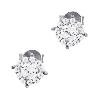 Σκουλαρίκια Με Πέτρες Από Ασήμι SK1001
