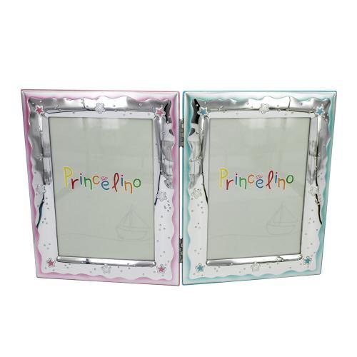 Prince Silvero Διπλή Κορνίζα Για Αγοράκι και Κοριτσάκι Από Ασήμι MA/143-2B/CR