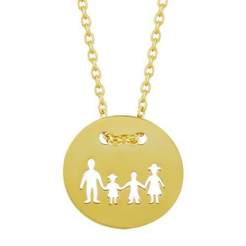 Μενταγιόν Κύκλος Οικογένεια Από Επιχρυσωμένο Ασήμι M518