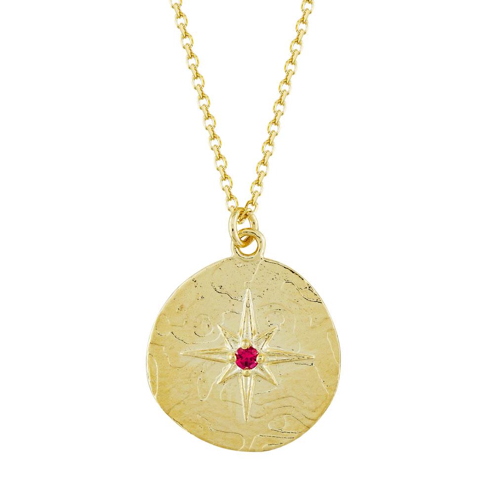 Mενταγιόν Αστεράκι Από Κίτρινο Χρυσό Κ14 M508