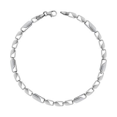 Ανδρικό Βραχιόλι Από Λευκόχρυσο K9 ΑVR157