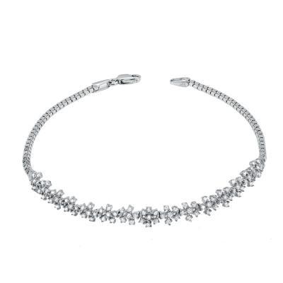 Βραχιόλι Με Πέτρες Από Λευκόχρυσο Κ14 VR78135