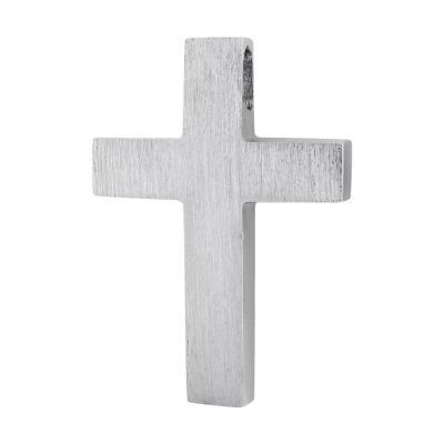 Σταυρός Βάπτισης Τριάντος Aνδρικός Σε Λευκόχρυσο 14 Καρατίων ST2600