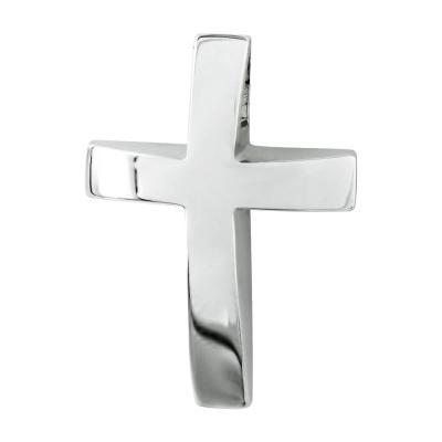 Σταυρός Βάπτισης Ανδρικός Σε Λευκόχρυσο 14 Καρατίων ST2628