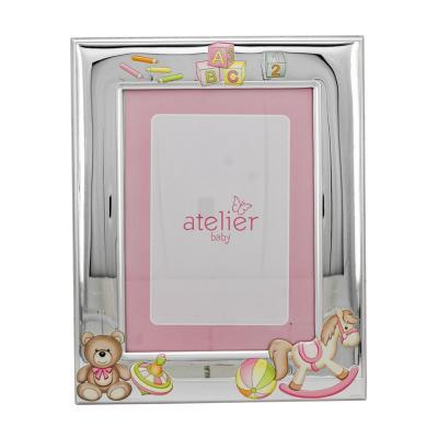 Atelier Ασημένια Κορνίζα Για Κοριτσάκι AE0407/13R