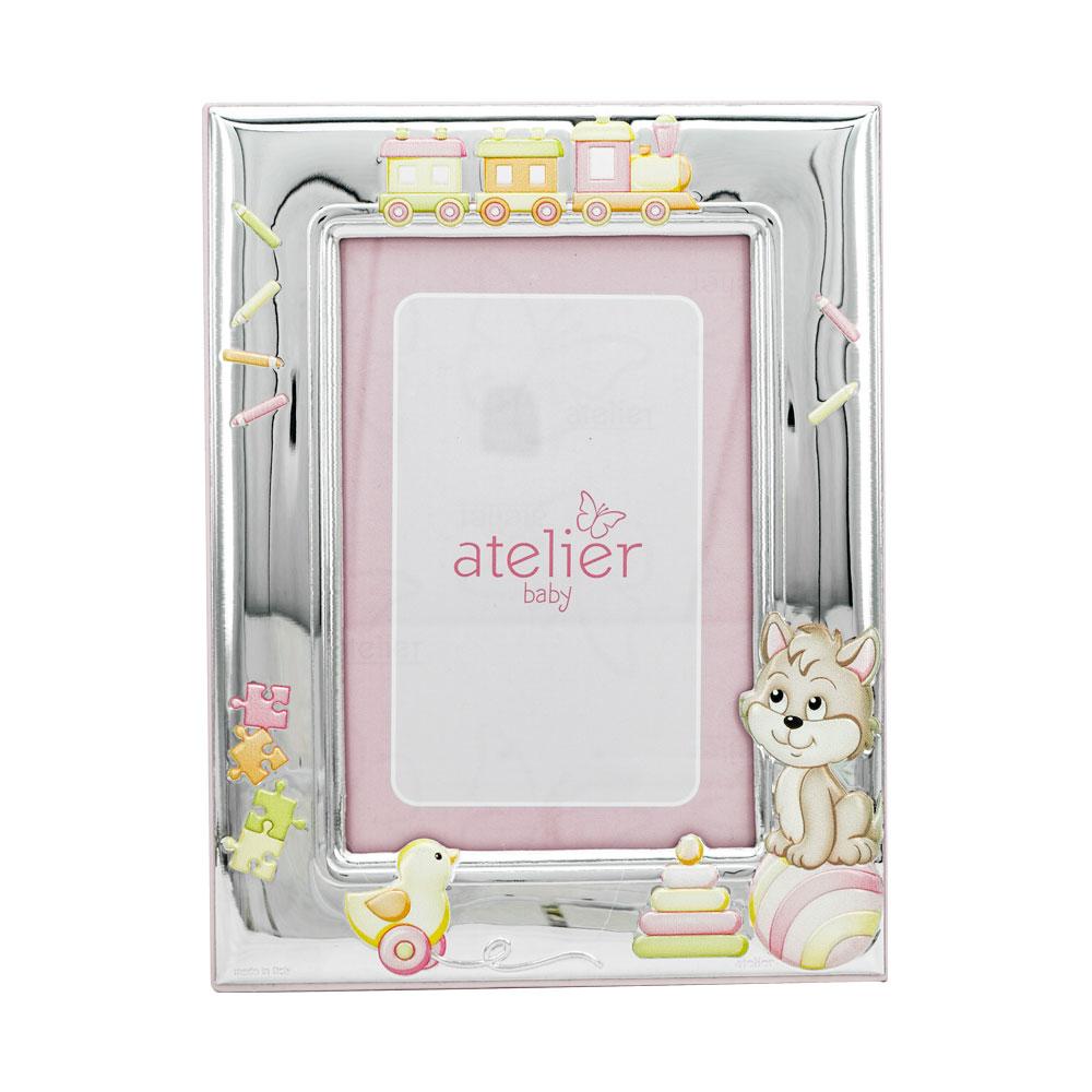 Atelier Κορνίζα Για Κοριτσάκι Από Ασήμι AE0408/9R
